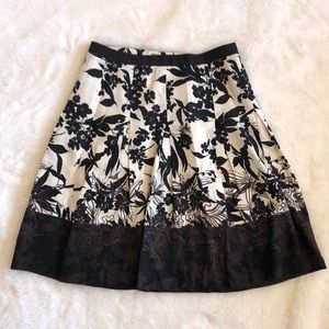 Ann Taylor Embroidered Floral Circle Skirt